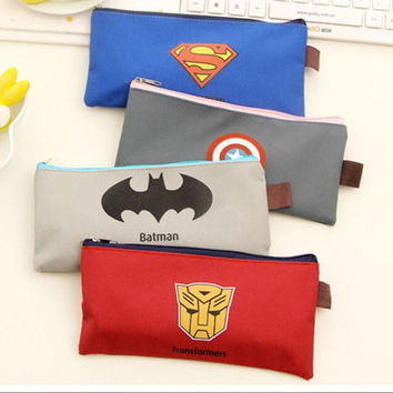 Cute Kawaii Cartoon Fabric Zipper Pencil Case Pencil Bag For Kids Gift Novelty Item School Supplies Free Shipping 1136