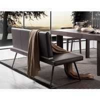 Modrest E151Y Modern Brown Leatherette Dining Bench