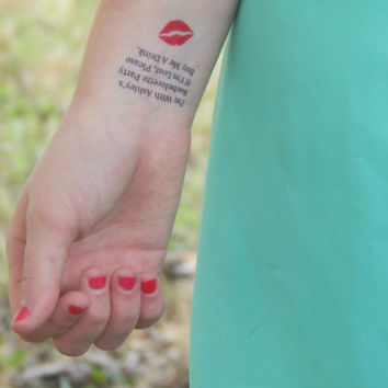 15 Bachelorette Tattoos - If I'm Lost, Buy Me A Drink - Bachelorette Party Temporary Tattoos - Party Favor