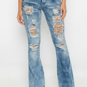 Heavy Ripped Flare Jean | Flare Jeans | rue21
