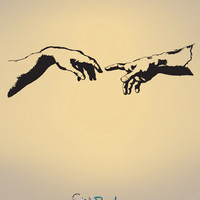 Vinyl Wall Decal Sticker The Creation of Adam #682