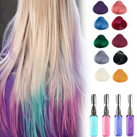New Hot 10 Colors Hair Color Spray Cosplay Party Queen Temporary Vibrant Glitter Instant Highlights Streaks Mascara Dye Cream Z3