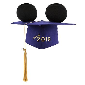 Disney Parks Mickey Mouse Ear Hat Graduation Cap for Adults 2019 New with Tags
