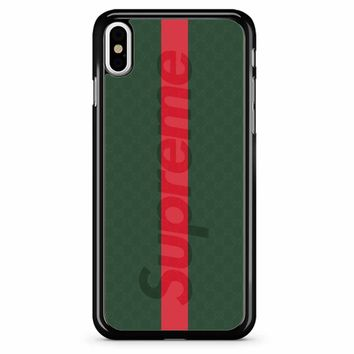 Supreme Green iPhone X Case
