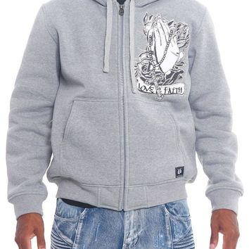 Love and Faith Zip Up Fleece Hoodie JK46 - T9A