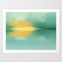 let`s walk on the beach Art Print by Andreas Wemmje
