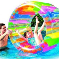 """Water Wheel - Giant Inflatable Swimming Pool Water Wheel Toy (49"""" X 33""""):Amazon:Toys & Games"""