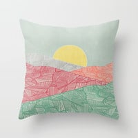 Lines in the mountains 03 Throw Pillow by vivianagonzlez