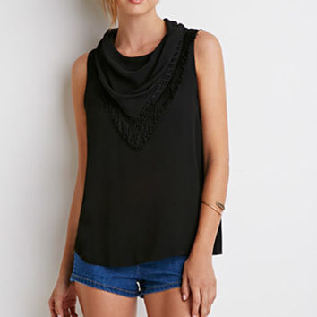 Draped Fringe Layer Top