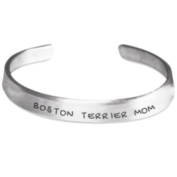 Boston Terrier Mom Bracelet