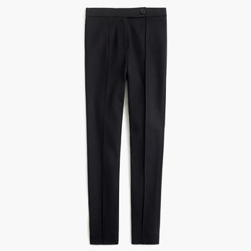 Button-front any day pant in stretch ponté