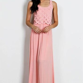 Fall Into The Trap Weave Maxi Dress