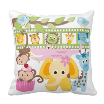 Baby Zoo Animals Pillow