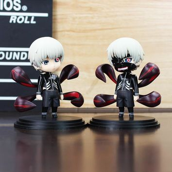 2Pcs/Lot Anime Tokyo Ghoul Kaneki Ken With Mask PVC Figure Dolls Toys Q Version Collection Toy 10cm Great Gift