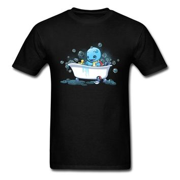 Bath Time T-shirt Mens Turtle Rubber Duck T Shirt  Tops Tees Fathers Lovely Gift Clothes Man Cotton TshirtKawaii Pokemon go  AT_89_9