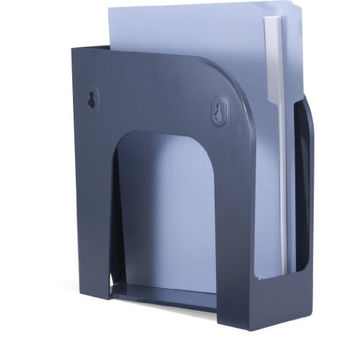 Officemate Verticalmate Cubicle Magazine File, Charcoal, 10.25 x 3.875 x 10.25 Inches (29242)