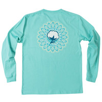 Mandala Logo Long Sleeve Tee Shirt in Turquoise by The Southern Shirt Co.