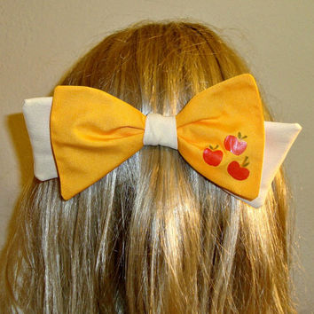 Apple Jack  Hair Bow Tie My Little Pony Cutie Mark Barrette
