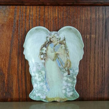 Bradford Exchange, Vintage Angel, Angel Wall Plate, Wall Décor, Baby Shower Gift, Mothers Day Gift, 1998 Bradford Décor, Vintage, Angel