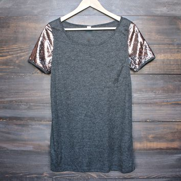short sleeve sequin top