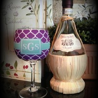 Wine Glass Koozie, Solo Cup Koozie, Monogrammed / Personalized Koozie from Sassy Southern Gals Boutique