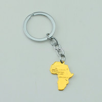 18k Gold Africa Key Chain