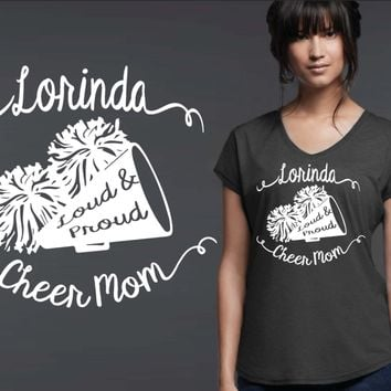 Cheer Mom Personalized T-shirt