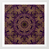 Purple Mandala Hippie Pattern Art Print by Hippy Gift Shop