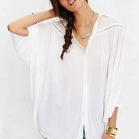 Kimchi Blue Angel Wing Top- White