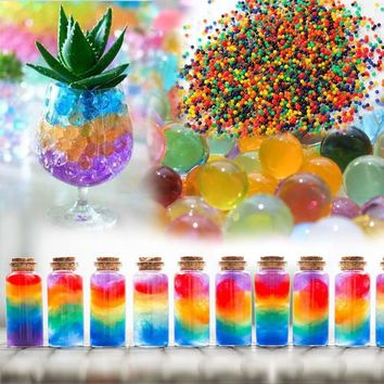100Pcs/set Crystal Mud Hydrogel Orbeez Crystal Soil Outdoor Water Beads Vase Soil Grow Magic Balls Kid's Toy Home Decorati