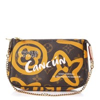 LOUIS VUITTON Monogram Tahitienne Cancun Mini Pochette Accessories