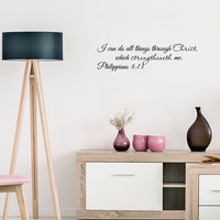 """I can do all things through Christ.. Philippians 4:13 Religious Inspirational Bible Verse-22""""x6"""""""