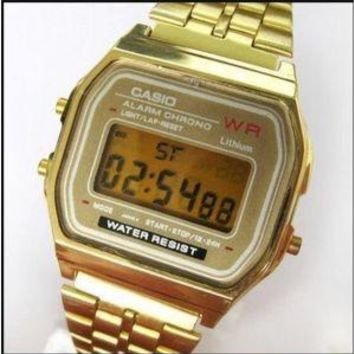 Casio retro gold watch