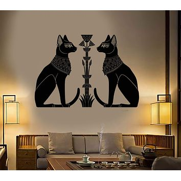 Vinyl Wall Decal Egyptian Cats Bastet Ancient Egypt God Art Stickers Unique Gift (ig4894)