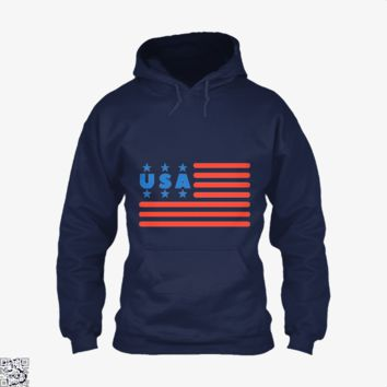 Usa Flag 4Th July, Independence Day Hoodie