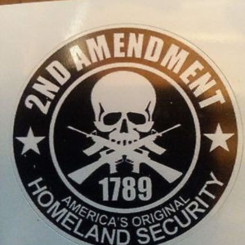 2nd Amendment Hard Hat Vinyl Sticker Helmet Decal  Label Motorcycle Gun Rights