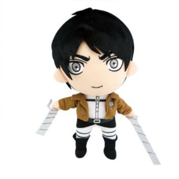 "1 X 12"" Attack on Titan Eren Yeager Jaeger Stuffed Plush Doll"