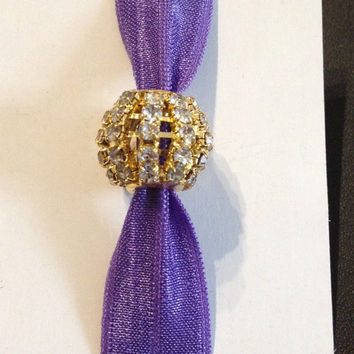 Gold Rhinestone Ball Elastic Hair Ties (and Bracelets)