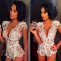 2016 lace jumpsuit jumpsuit sexy televised bosom