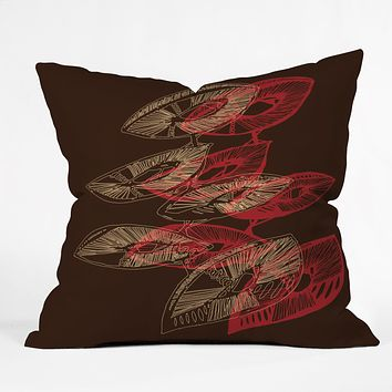 Julia Da Rocha Mushu Throw Pillow
