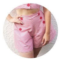 Red Gingham Sailor Shorts