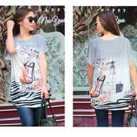 [DEAL OF THE DAY] Dear Deer Trendy Women's Graphic Long Style Tee