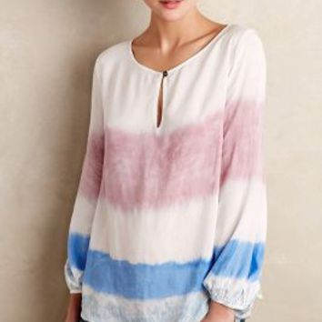 Melting Stripes Tee by Holding Horses Blue Motif