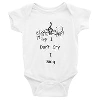 I Don't Cry I Sing, music baby clothes, music baby Onesuits, music baby Onesuits, music baby shirt, trendy baby clothes, baby shower gift,