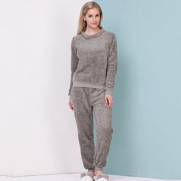 Thicken Sleepwear Winter Home Set [9093783114]