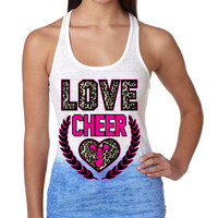 Love Cheer Leopard Womens Ombre Tanktop