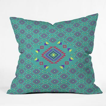 Bianca Green La Joya Teal Throw Pillow