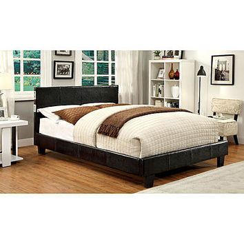 Furniture of America Cheshire Platform Bed with Bluetooth Speakers - Full Size