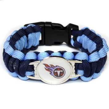 Tennessee Titan Paracord Bracelet Sport Team Umbrella Braided Bracelet Football Fans Gift Drop Shipping