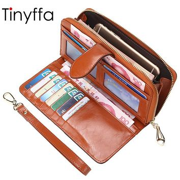 Tinyffa Brand Leather Bag Women Wallet Female Purse Women Coin Purse ladies Credit Card Holder Clutch Bag Female Perse Organizer
